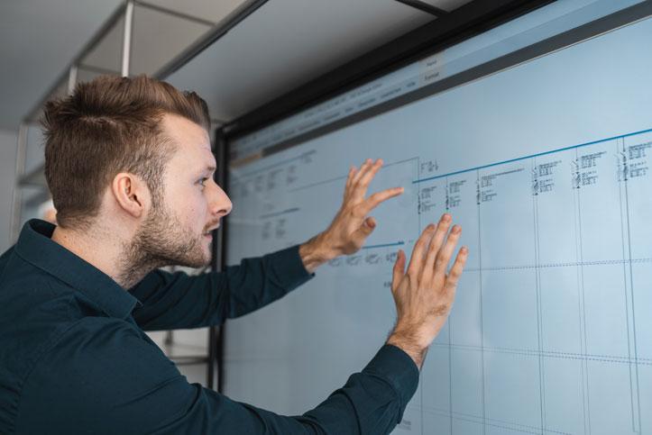 Unternehmen Mitarbeiter Smart Screen