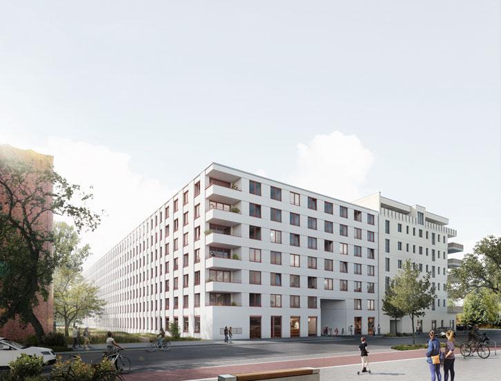 Q45 Neukonstruktion Wohngebäude Strassenansicht